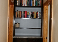 Granite on a Tall Bookcase