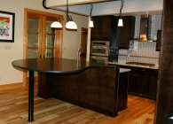 Honed Granite Piano Bar
