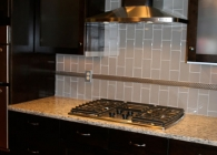 Glass Tile Kitchen Back Splash and Granite Counter