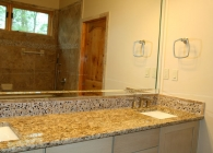 Master Bathroom Vanity with Granite and Undermount Rectangular sinks