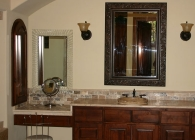 Expansive and Classy Granite Bathroom Counter