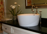Uba Tuba Bathroom Counter with Flat Polish Edge