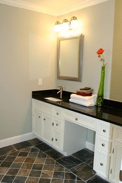 Black Granite Countertops Bathroom