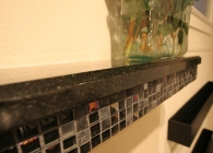 San Marcos Black Granite Fireplace Mantel