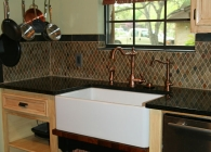 Uba Tuba Kitchen Counter with Undermount Farmhouse Sink