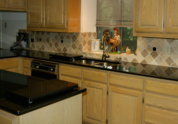 Absolute Black Granite Kitchen : Absolute black granite in a kitchen remodel