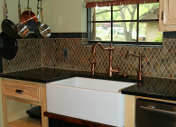 Uba Tuba Granite with Undermount Farmhouse Sink
