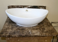Emperador Dark Marble with Vessel Sink