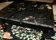 Cosmic Black Coffee Table with Flat Polish Edge