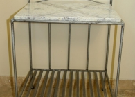 Bianco Romano Granite: Antique Table with Custom Granite Top
