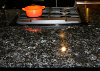 Volga Blue Granite Kitchen Peninsula