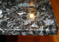 Volga Blue Granite with a Flat Polish Edge