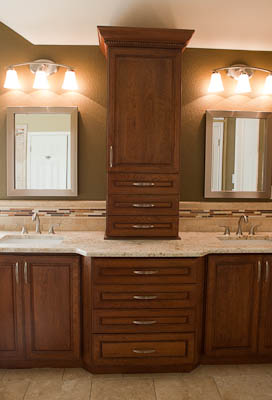 Colonial Gold Bathroom Vanity Top Granite Bathroom Countertops Custom Cherry Cabinets