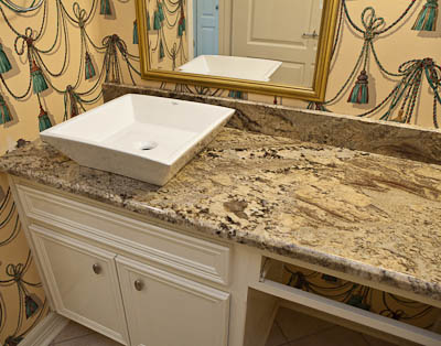 Neptune Bordeaux Granite Square Vessel Sink  Bathroom Vanity Tops