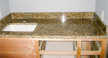 Rectangular Undermount Bathroom Sink in Santa Cecilia Granite