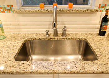Undermount Sink Bathroom Vanity - Trench Sink New Venetian Gold Granite