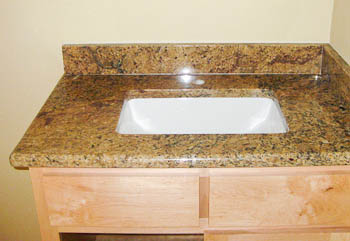Attractive ... Undermount Sink Bathroom Vanity   Trench Sink New Venetian Gold Granite  ...