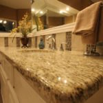 Giallo Ornamental Granite with full bullnose edge