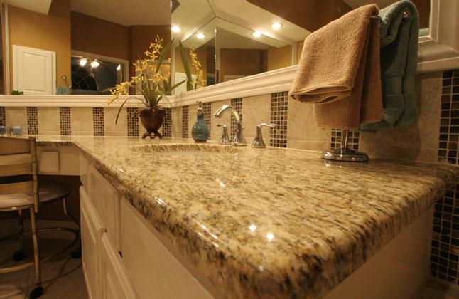 Giallo Ornamental Granite With Full Bullnose Edge