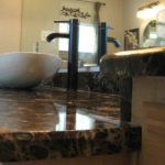 Emperador Dark Marble Bathroom Counter