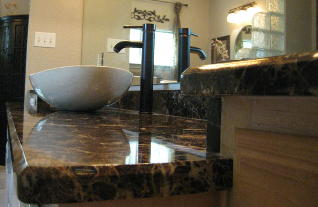 Emperador Dark Marble Bathroom Counter