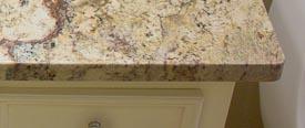 Flat Polish Edge On Sienna Bordeaux Granite