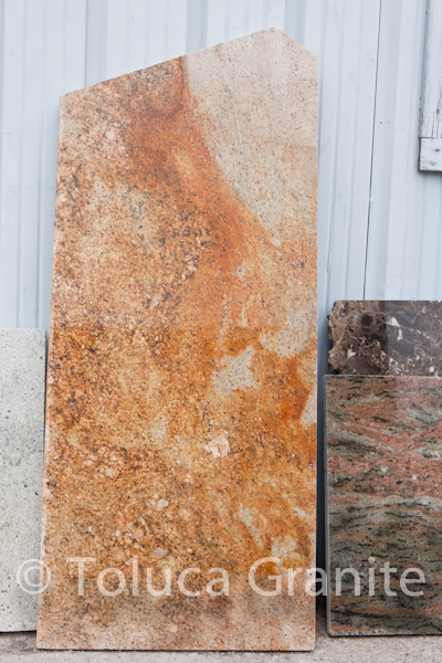 Madera Gold granite remnant for bathroom vanity in Austin Texas