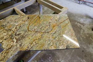 golden bordeaux granite bathroom vanity