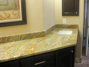 Golden Bordeaux Granite Master Bathroom Vanity Top