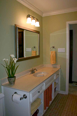 Uba Tuba Granite Bathroom Vanity Enduring Style - How to remodel an old bathroom