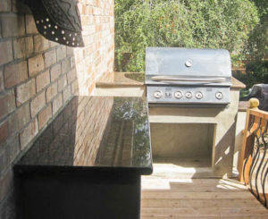 Granite BBQ in Rustic Coral Granite