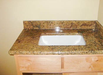 Bathroom Vanities Austin bathroom vanity top in an austin rental