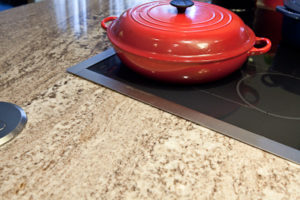 slide-in range lip over granite kitchen counter