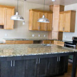 Lago Vista granite kitchen in Santa Cecilia granite