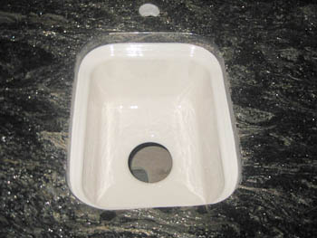 Asterix granite undermount bar sink