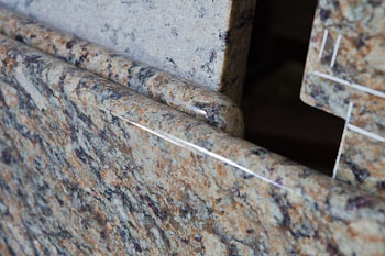 Full bullnose edge: Giallo Napoleon granite