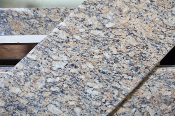 Full bullnose edge on Giallo Napoleon granite