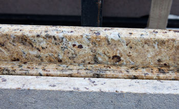Eyebrow edge on Giallo Verona Granite