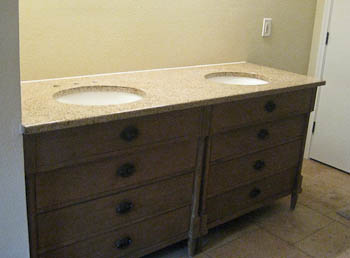 Double Vanity Top Goldstone Granite