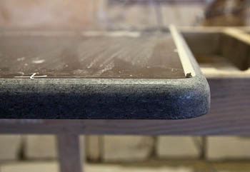 Detail of Half Bullnose Edge during fabrication