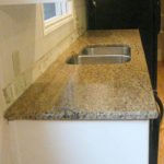 Ornamental Granite with an undermount sink
