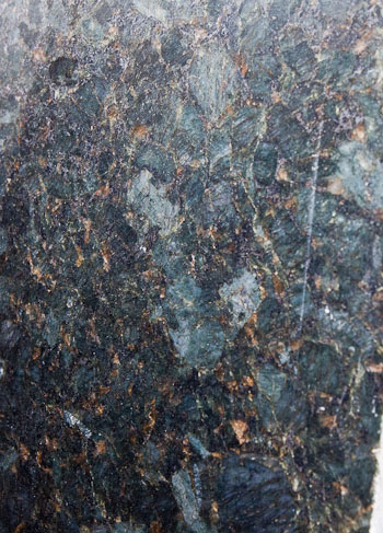 Peacock Green Granite Detail