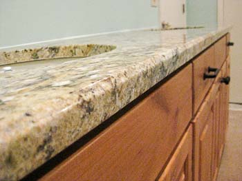 3/8-inch bevel edge on granite