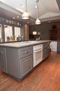 Grey Lueders Limestone Kitchen Island Countertop