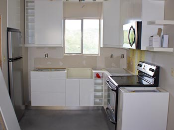 Austin condo kitchen with ikea cabinets - Small kitchens ikea ...