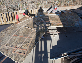 Curved Granite Templates for a Huge Island