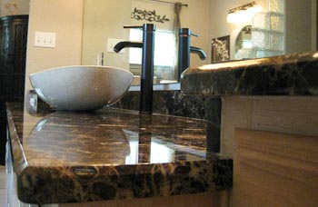 Emperador Dark Marble Bathroom Vanity Top