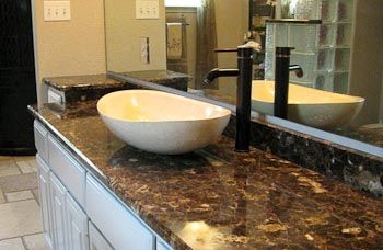 Emperador Dark Marble Bathroom Vanity Top  Bathroom Vanity Tops