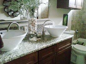 Vessel Sinks on Bathroom Counter