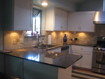 Subway Tile Backsplash with Granite Counters